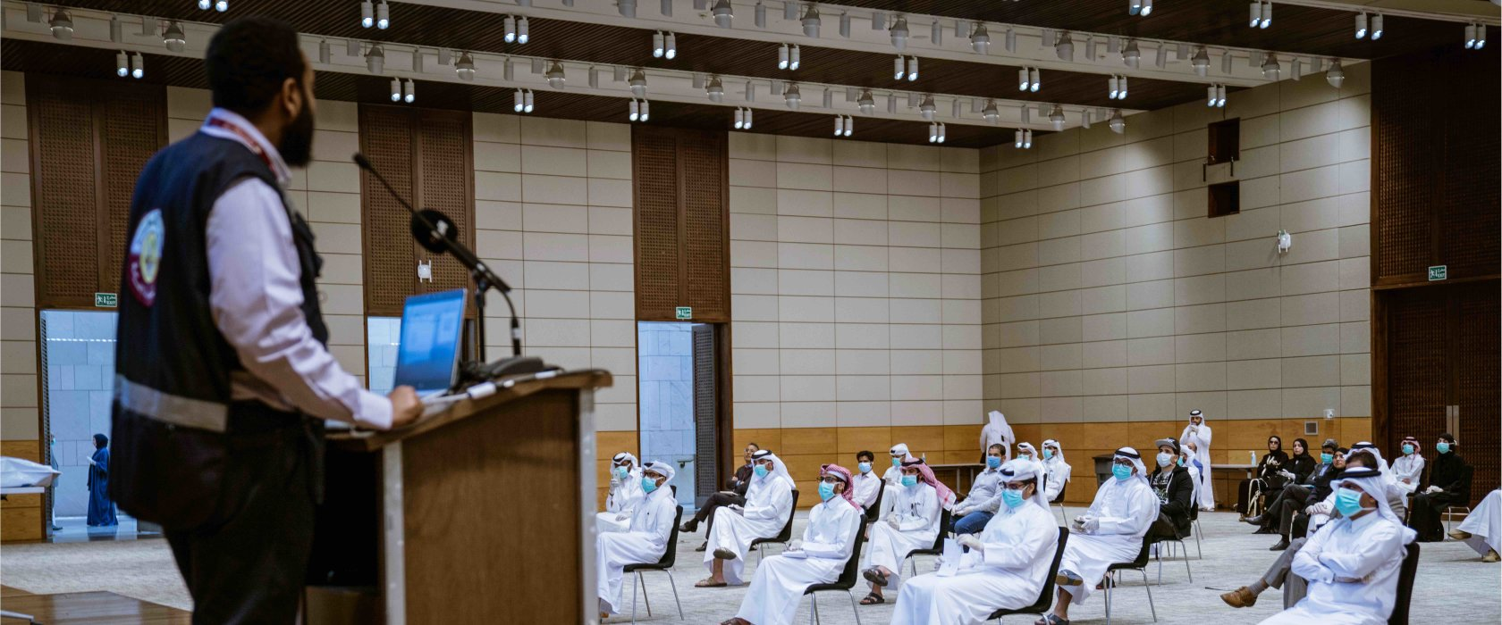 Qatar's first batch of volunteers fighting coronavirus begin training at QF