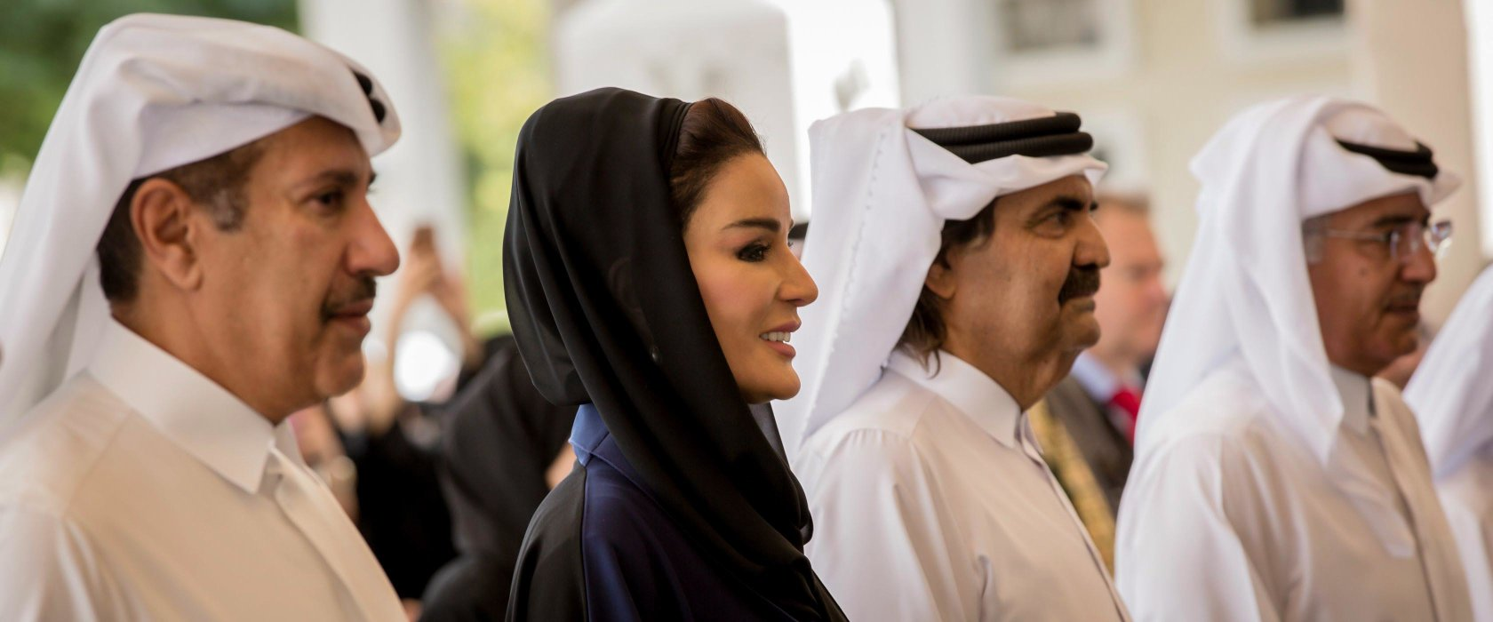 His Highness the Father Amir and Her Highness Sheikha Moza bint Nasser attend official opening of QF's Tariq Bin Ziad School