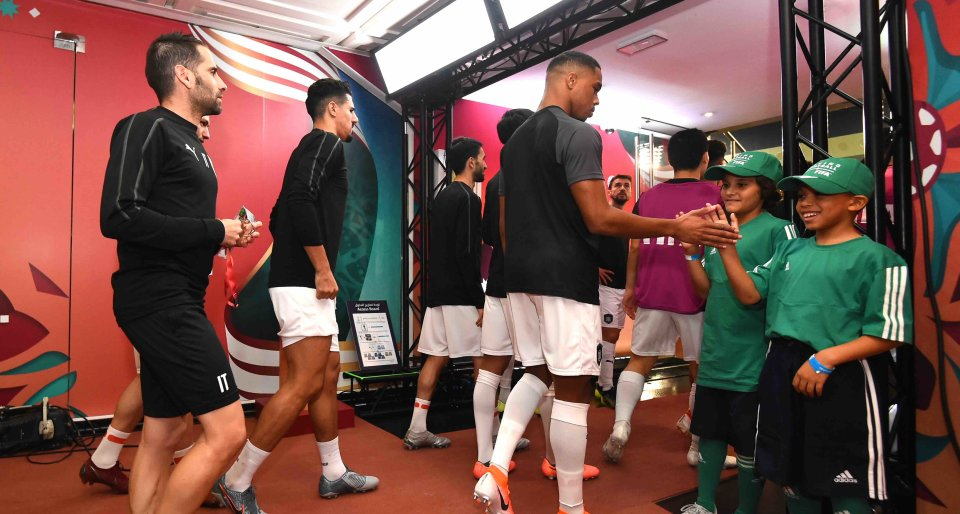 Wanda Flag Bearer programme kicks off with youth from QF programs at FIFA Club World Cup Qatar 2019™ opening match