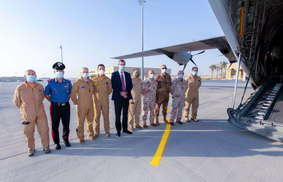QF, HMC and Embassy of Italy combine to fly COVID-19 patients 03