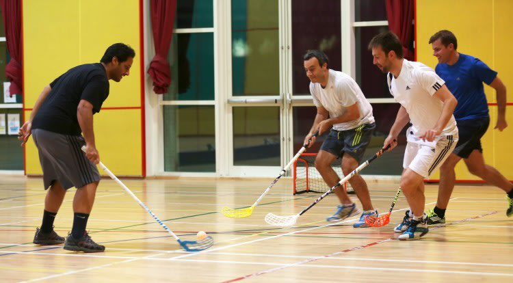 Floorball Social in Recreation Centre