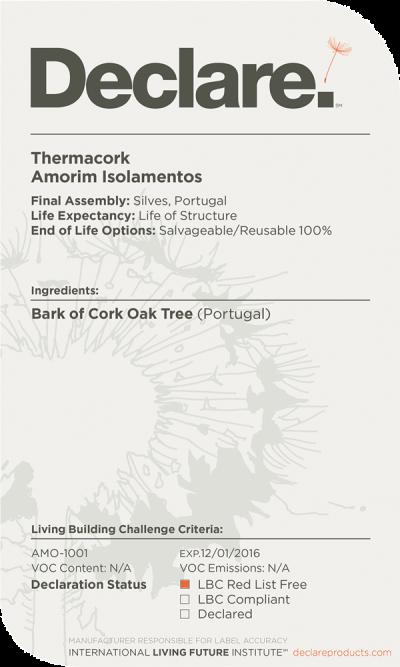 Thermacork Declare Label