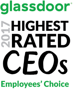 Glassdoor 2017 Highest Rated CEO Award