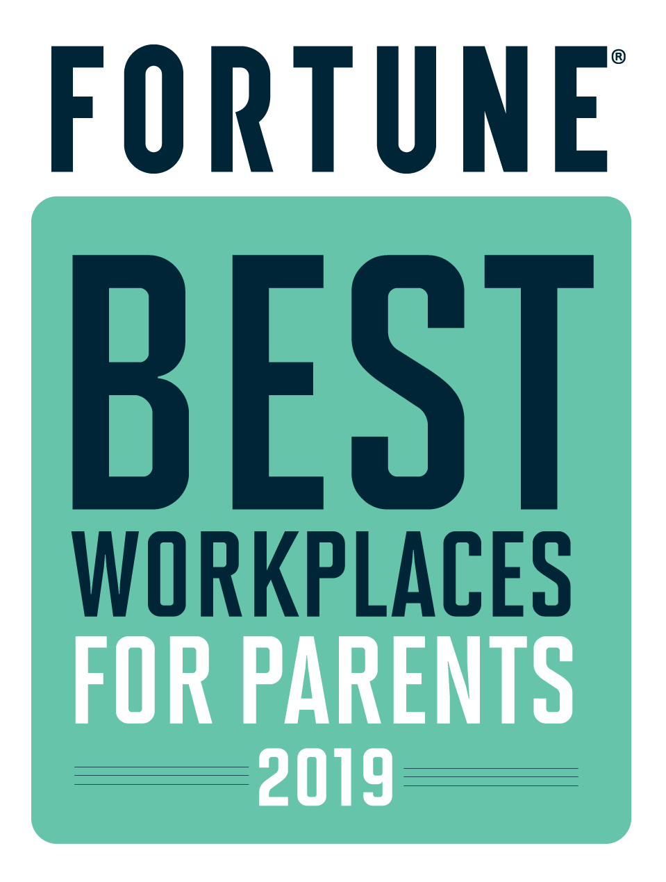 Fortune Best Place to Work for Parents 2019 Award