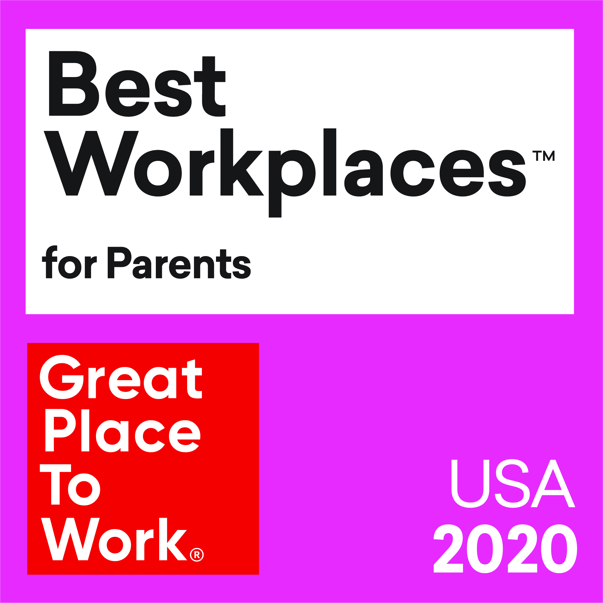 GPTW Best Workplaces for Parents 2020