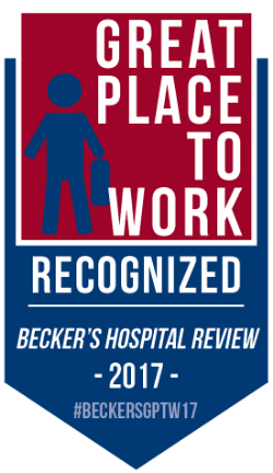 Becker's Hopspital Review 2017 Great Place to Work Award