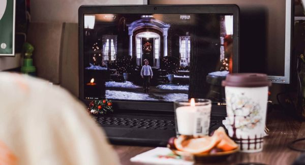 christmas movies on laptop