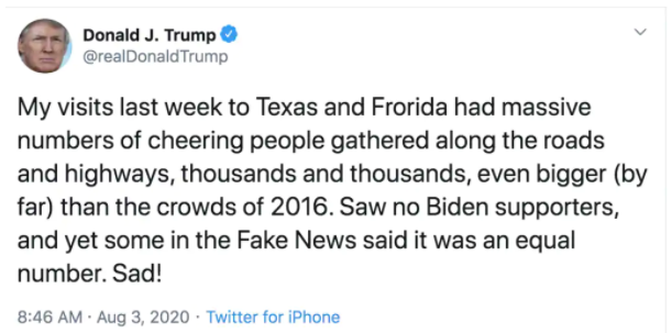 Typo in Trump's tweet