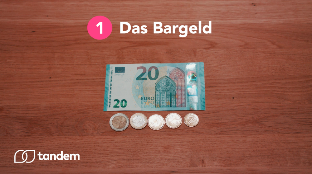 cash in German, Bargeld