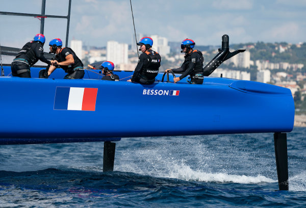 France SailGP Team skippered by Billy Besson in action