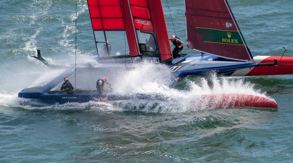 Great Britain SailGP Team in race action