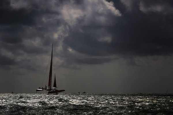 China SailGP Team helmed by Phil Robertson in action in Race Day