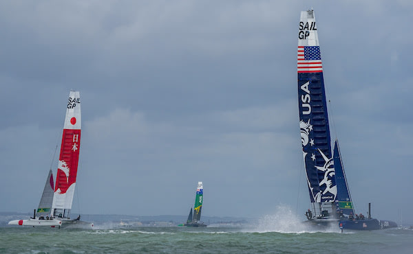 U.S. SailGP Team Rallies After Capsize at Cowes SailGP