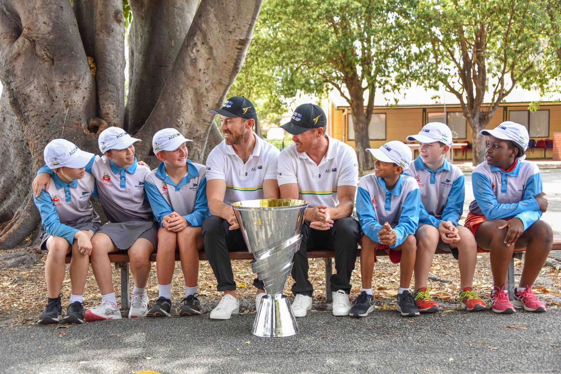 Tom Slingsby and Perth local Kinley Fowler take SailGP Championship Trophy Tour to Perth to celebrate historic win