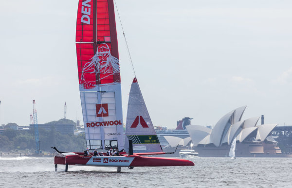 Holger Danske rises as Denmark SailGP Team launches boat in Sydney