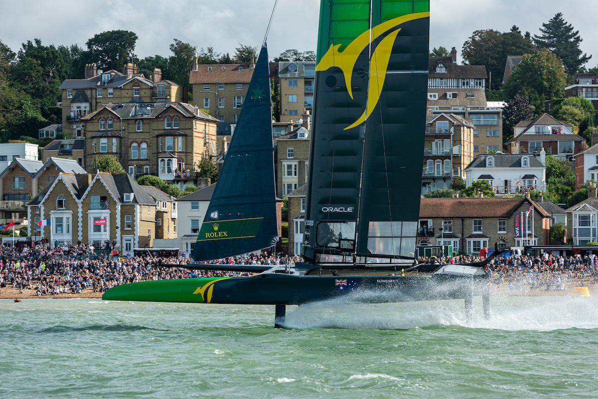 Australia SailGP Team in front of crowd
