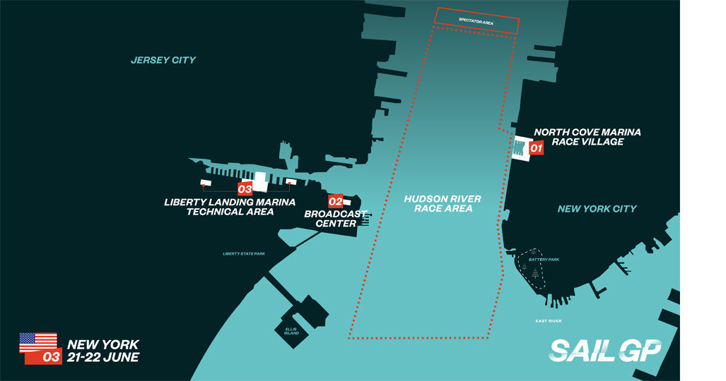 SailGP New York Race Map