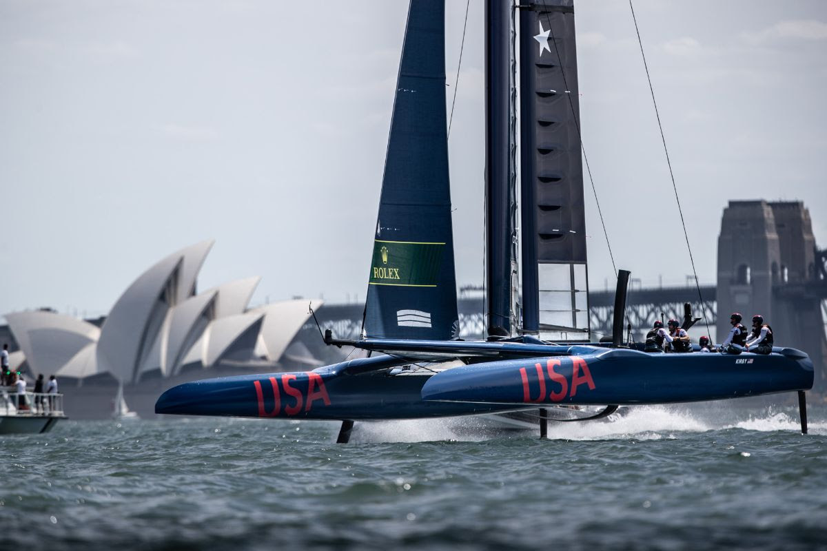 United States SailGP Team in action on Sydney Harbour