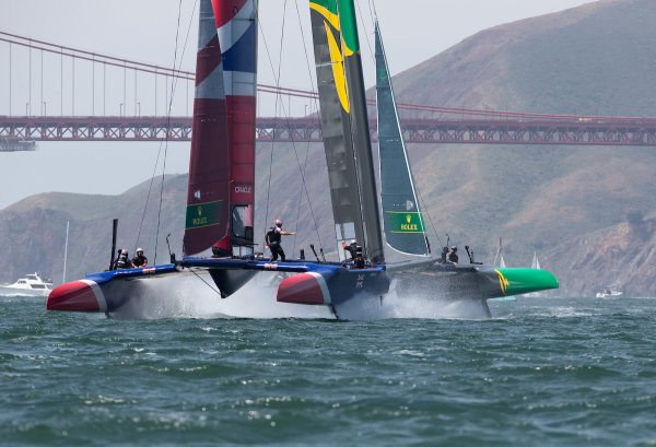 Brits on form today showing great potential and pushing the front of the fleet all day: game on for San Francisco SailGP