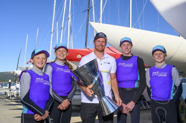 Tom Slingsby embarks on SailGP Championship Trophy tour at hometown in Gosford to celebrate historic win