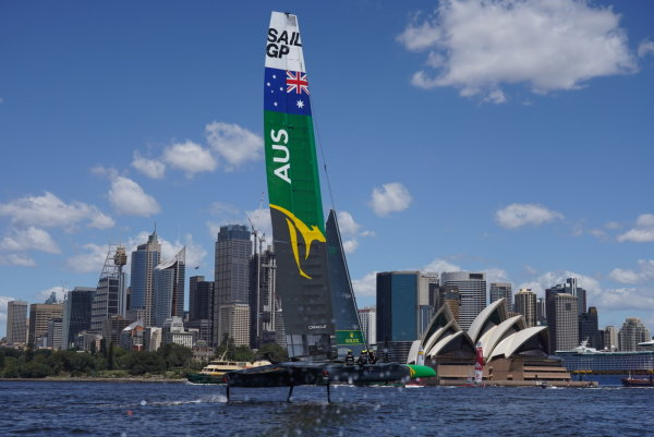Tom Slingsby's Australia SailGP Team hits the water ahead of home event on Sydney Harbour