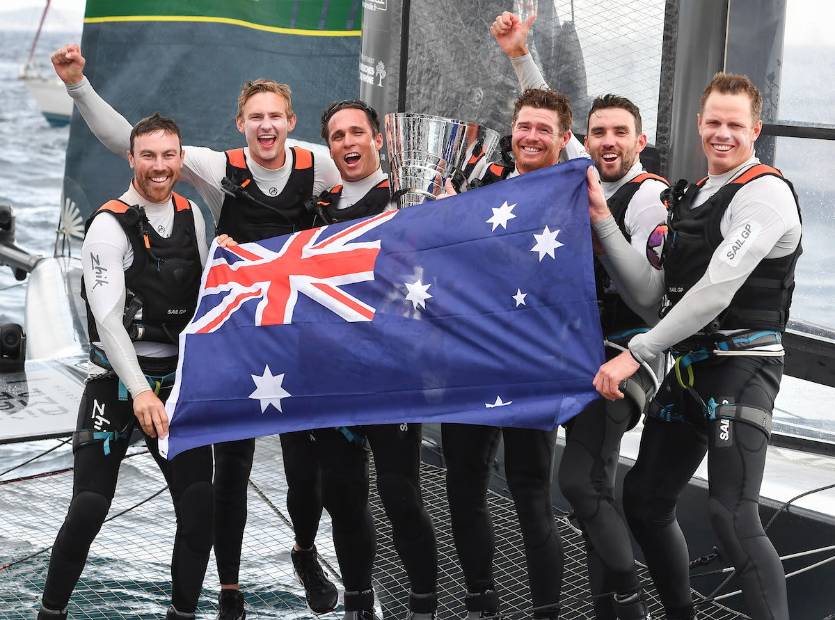 Tom Slingsby makes history for Australia as the first winner of the SailGP Championship