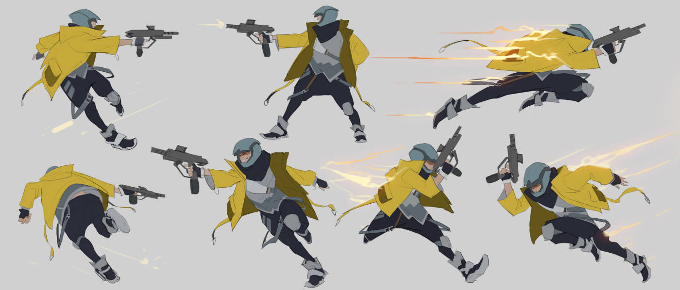 Cruz Concept Art - Movement Studies