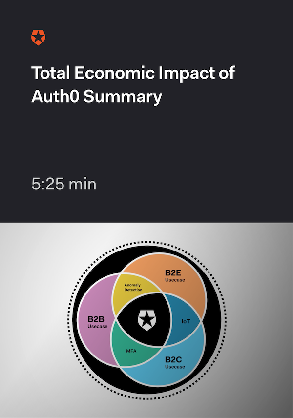 Forrester |  Total Economic Impact of Auth0 Webinar