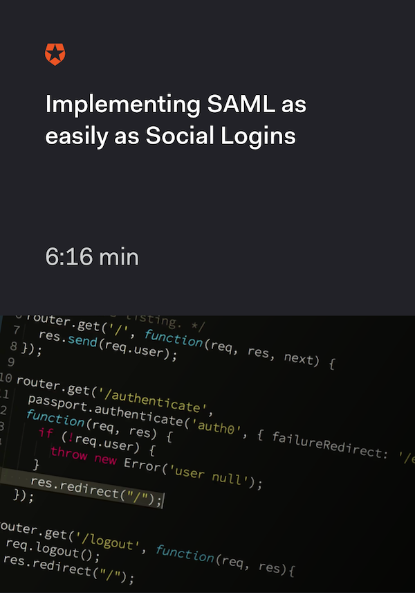Implementing SAML as easily as Social Logins