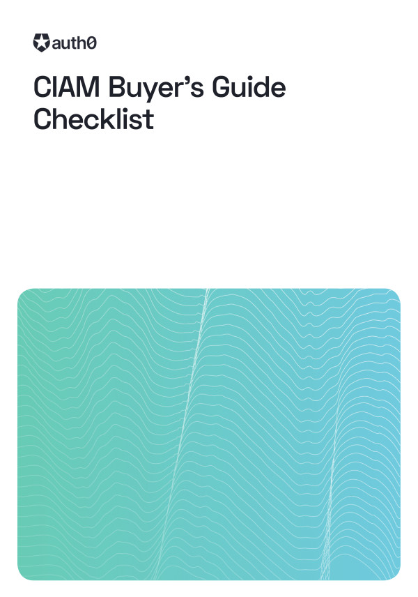 CIAM Buyer's Guide Checklist