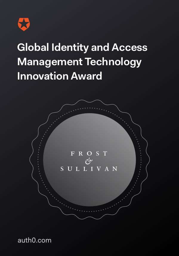 Frost & Sullivan's 2019 Global IAM Technology Innovation Award winner