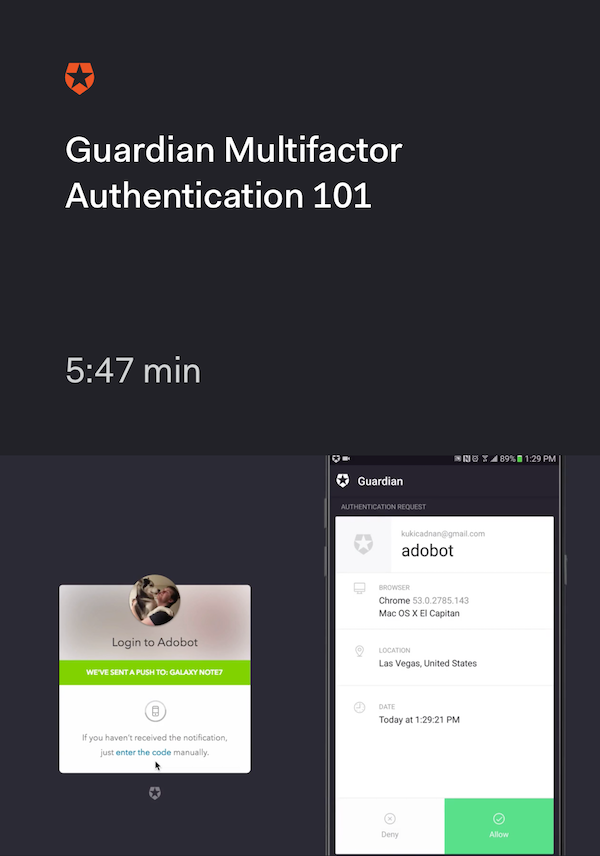 Guardian Multifactor Authentication 101