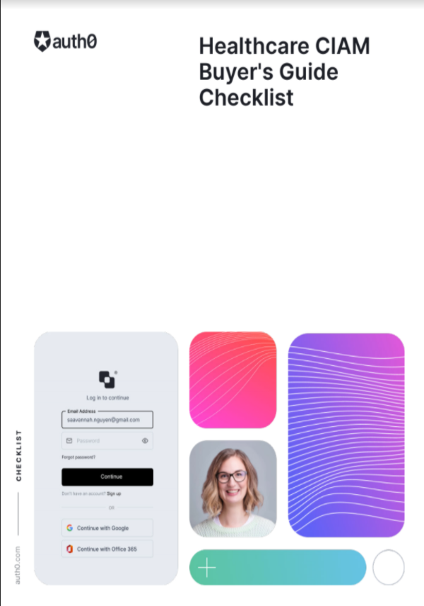 Healthcare CIAM Buyer's Guide Checklist