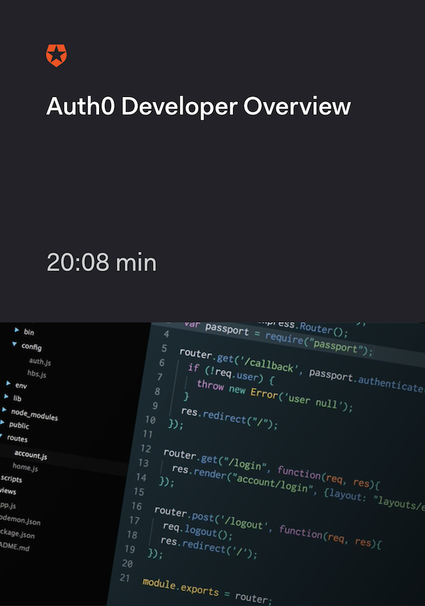 Auth0 Developer Overview
