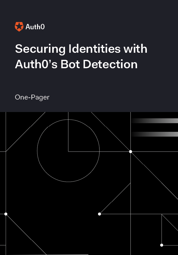 Securing Identities with Auth0's Bot Detection