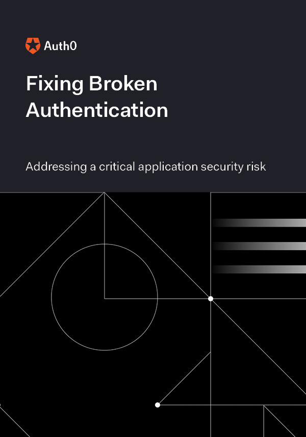 Fixing Broken Authentication