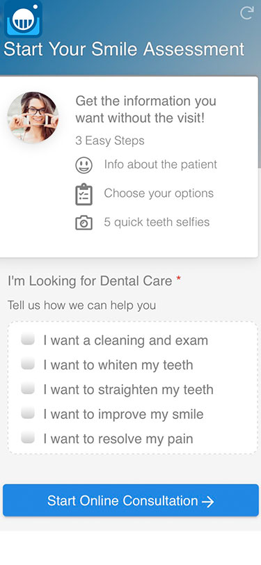 Branded Smile Assessment widget