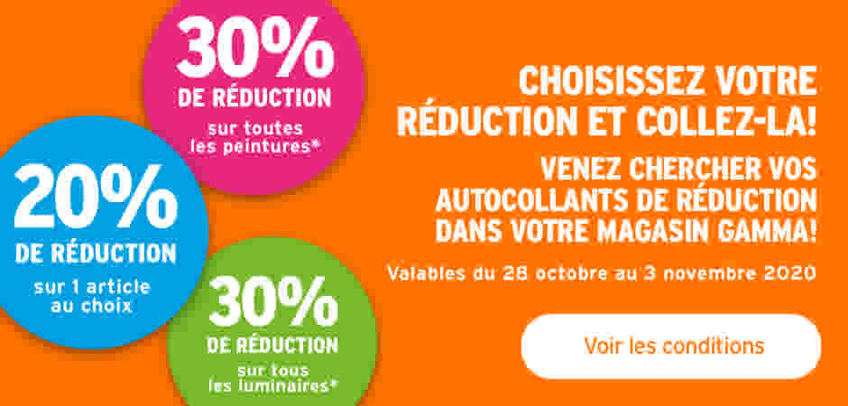 autocollants de réduction