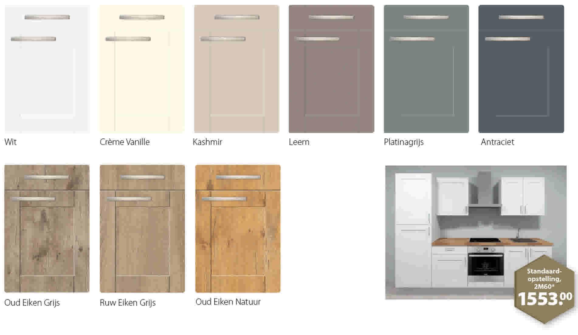 Keuken samenstellen kies je kastdeuren for Zelf keuken samenstellen