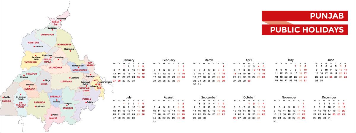 Punjab Public Holidays