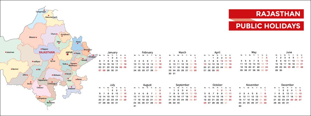 Rajasthan Public Holidays