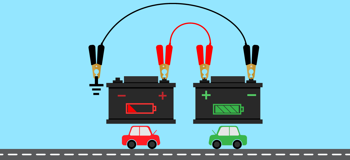 How to Charge a Car Battery from Another Car