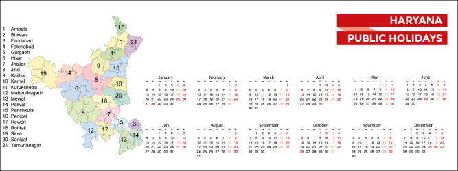 Haryana Public Holidays