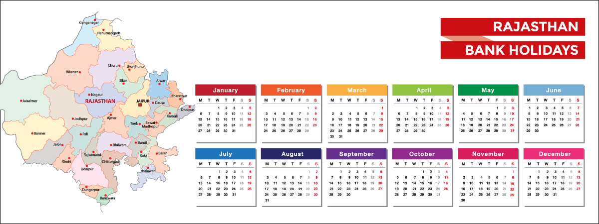 Rajasthan Bank Holidays