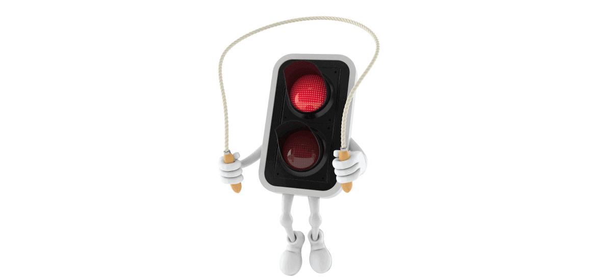 Red Light Jump Challan