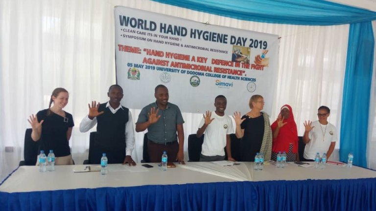Erick fourth left,during the symposium organized by RBA Initiative during world hand hygiene day 2019