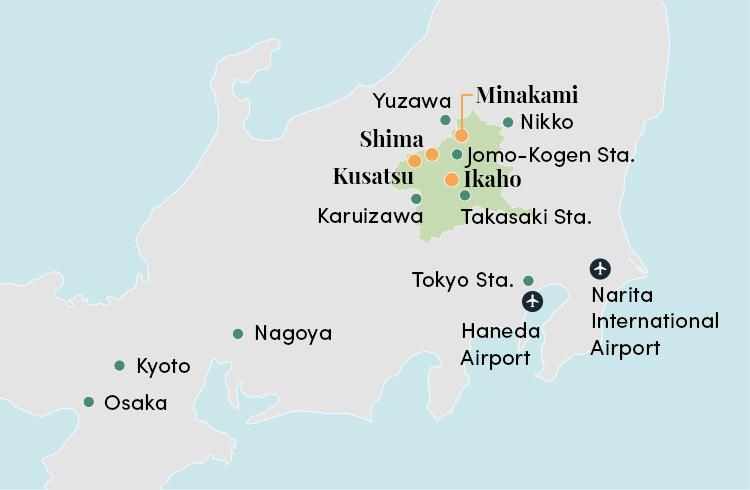 Gunma map