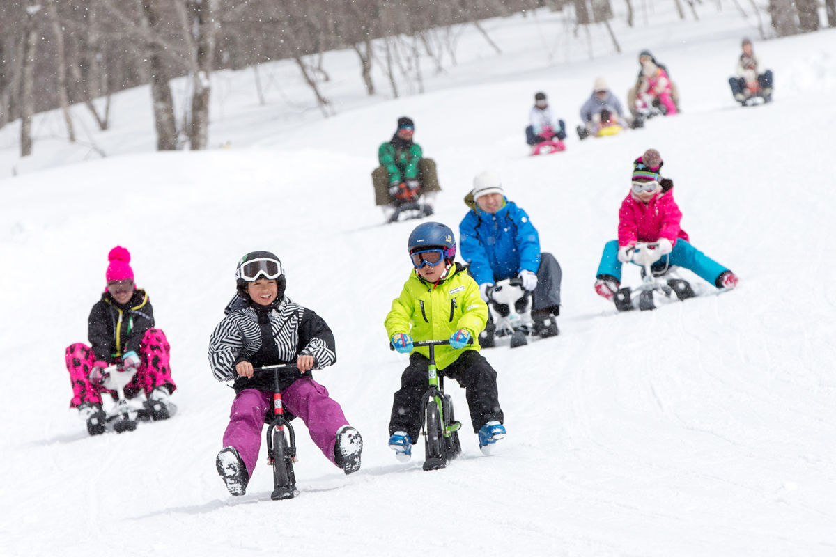 Starter slopes and family-friendly fun