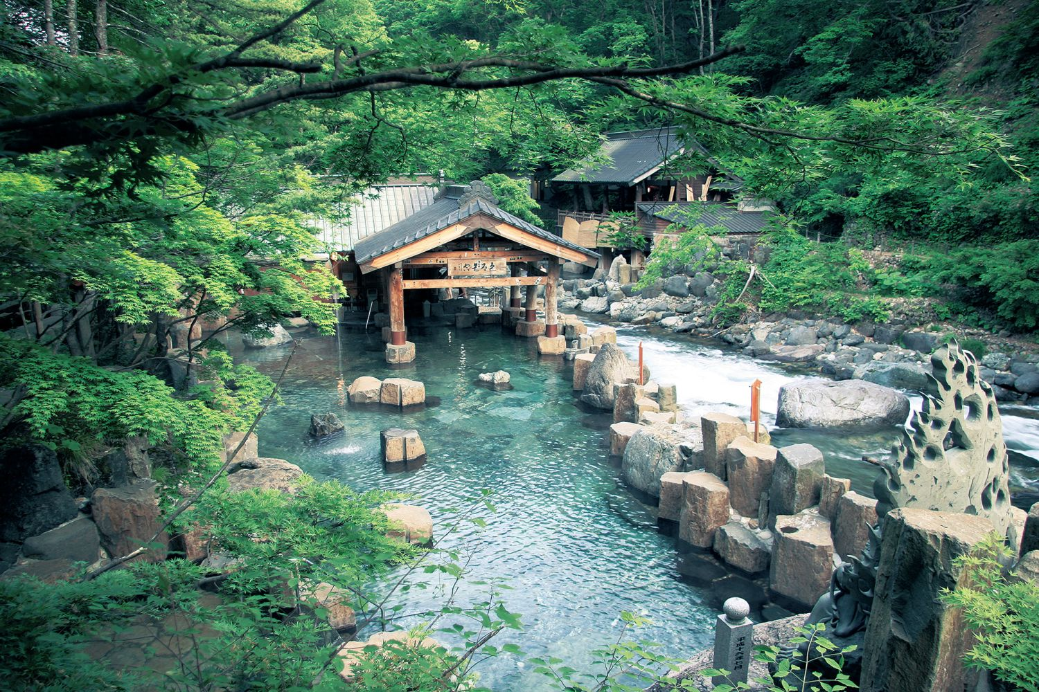 Japan's largest outdoor onsen