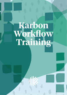 Cover Design - Karbon Workflow Training